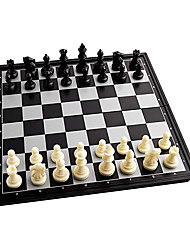 cheap -Magnetic Travel Chess Set 10inch X 10inch Folding Chess Set for Adults and Kids Game Chess Board Set Gift for Chess Lovers and Beginners (Black and White - 32pcs)