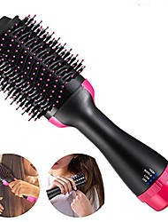 cheap -Hair Dryer Brush Hot Air Brush 4-In-1 Hair Curling Iron Hair Straightener Dryer Ionic Hair Brush Blow Dryer (Rosered)  One Step Electric Ion Blow Dryer Brush