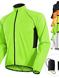 cheap -Nuckily Men's Cycling Jacket Winter Bike Jacket Windbreaker Raincoat Waterproof Windproof Breathable Sports Patchwork Solid Color White / Black / Yellow Mountain Bike MTB Road Bike Cycling Clothing