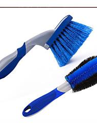 cheap -Car Wash Tool Set Wheel Brush Combination Household Blue Tire Brush Car Beauty Maintenance Cleaning Rim Brush