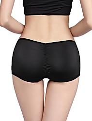 cheap -Women's 1 Piece Basic Seamless Panty / Shaping Panty - Normal Low Waist Black Camel S M L