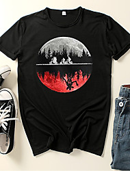 cheap -Inspired by Stranger Things Cosplay Cosplay Costume T-shirt Polyester / Cotton Blend Graphic Prints Printing Harajuku Graphic T-shirt For Women's / Men's