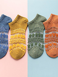 cheap -1 Pair Women's Socks Solid Colored Warm / Deodorant Simple Style Nylon EU36-EU46