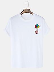 cheap -Men's Unisex T shirt Hot Stamping Graphic Prints Balloon Bear Plus Size Print Short Sleeve Daily Tops 100% Cotton Basic Casual White Black Blushing Pink