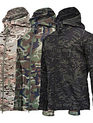 cheap -winter outdoor soft shell waterproof jacket camo hooded rain jacket ski tactical hunting hiking jacket regenjacke impermeavel gray xxxl