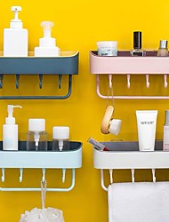 cheap -Kitchen Rack Wall-mounted Suction Wall Toilet Storage Free Punch Kitchen Rack