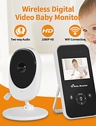 cheap -2.4 inch digital baby wireless monitor off screen electronic amplification intercom temperature display night light