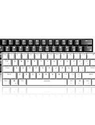 cheap -AJAZZ i610T Wireless Bluetooth USB Wired Dual Mode Mechanical Keyboard STANDARD FEATURES Luminous Mechanical Monochromatic Backlit 61 pcs Keys