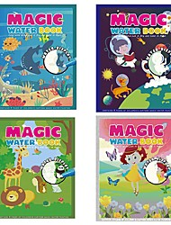 cheap -Magic Water Drawing Book Coloring Doodle Reusable Magic Drawing Books Water Painting Books Drawing Boards Sketch for Kids