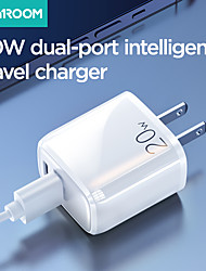cheap -Joyroom 20W Fast Charger Dual Port Quick Charger 20W PD+QC3.0 Qucik Charging Charger For iPhone 12 Samsung S21 Xiaomi Huawei