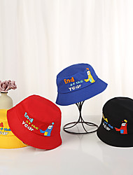cheap -1pcs Kids / Toddler Unisex Basic Birthday / Casual / Daily Wear Cartoon / Letter Stylish Cotton Hats & Caps Black / Blue / Red S