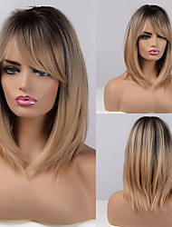 cheap -Synthetic Wig Natural Straight Side Part Wig Short A1 Synthetic Hair Women's Cosplay Party Fashion Blonde