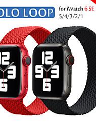 cheap -Watch Band for Apple Watch Series 6 / SE / 5/4 / 3/2/1 44mm 40mm  42mm 38mm Apple Sport Band Braided Loop  Sport Wrist Strap Woven Elastic Women Men Soft Strap