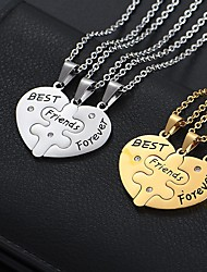 cheap -Women's Red Chains Necklace Friends Alloy Gold single pendant Silver single pendant Gold with chain Silver with chain 45 cm Necklace Jewelry 1pc For Gift Birthday Party / Long Necklace