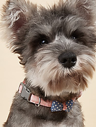 cheap -Dog Pets Collar Tie / Bow Tie Breathable With Bell Adjustable Flexible Durable Outdoor Walking Floral Print Nylon Corgi Beagle Bichon Frise Shih Tzu Poodle Chihuahua Blue Pink Gray 1pc
