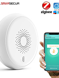 cheap -Tuya Zigbee Smoke Detector fire alarm Smoke Sensor Highly Sensitive fire alarm system