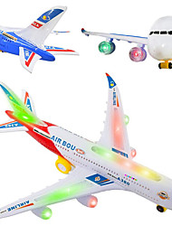 cheap -Holiday Birthday Airplane LED Lighting Light Up Toy Model Building Kit Music Noctilucent Electric With Switch Kid's for Birthday Gifts and Party Favors