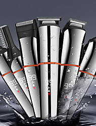 cheap -6 in 1 Multifunctional Waterproof Hair Clipper With LCD Digital Display Men's Electric Hair Clipper Razor Nose Hair Clipper
