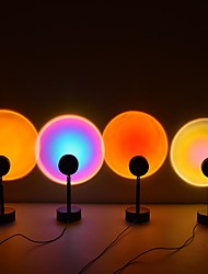 cheap -Sunset Light Night Light Projector Led Lamp 360 Degree Rotation Sunset Night Light USB Charging Romantic Led Light Rainbow Projection Lamp for Home Party Living Room Bedroom Decor