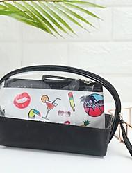 cheap -Unisex Bags PVC Cosmetic Bag Zipper Holiday 2021 Handbags Black Red Blushing Pink