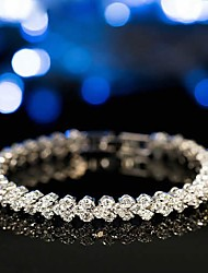 cheap -Women's Tennis Bracelet Bracelet Classic Fashion Elegant Classic Alloy Bracelet Jewelry Rose Gold / Gold / Silver For Gift Date