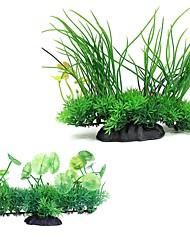 cheap -Fish Tank Aquarium Decoration Fish Bowl Artificial Plants Yellow Artificial Special Material 1 Piece