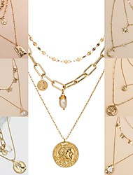 cheap -Women's Chains Necklace Fashion Alloy Gold 40-50 cm Necklace Jewelry 1pc For / Layered Necklace