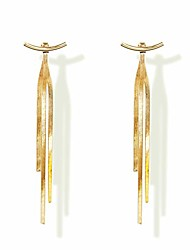 cheap -tassel earrings 925 sterling silver 14k gold plated glossy arc/bar long thread geometric earrings for women girl gifts present valentines birthday anniversary mothers day christmas gold color