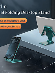 cheap -Phone Holder Stand Mount Desk Cell Phone Foldable Adjustable Stand Phone Desk Stand Adjustable Aluminum Alloy ABS Phone Accessory iPhone 12 11 Pro Xs Xs Max Xr X 8 Samsung Glaxy S21 S20 Note20