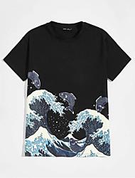 cheap -Men's Unisex Tee T shirt 3D Print Spray Plus Size Print Short Sleeve Casual Tops Basic Casual Fashion Black