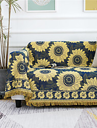 cheap -Sofa Cover Plants / Floral Printed Cotton Slipcovers