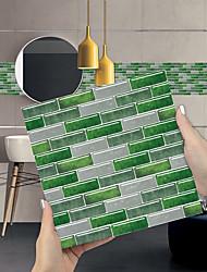 cheap -Imitation Epoxy Tile Sticker Green Mosaic Wall Sticker House Renovation Diy Self-adhesive Pvc Wallpaper Painting Kitchen Waterproof And Oilproof Wall Sticker
