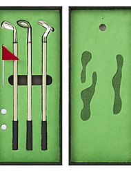 cheap -Golf Pen Set, Mini Desktop Golf Ball Pen, Top Golf Gift with Putting Green, 3 Golf Clubs Pens with Balls and Flag