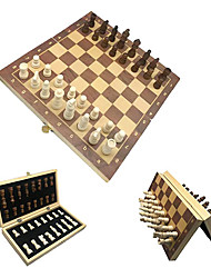 cheap -Magnetic Wooden Chess Set Handmade Portable Travel Chess Board Game Sets with Game Pieces Storage Slots for Adults and Kids (12/12 Inch)