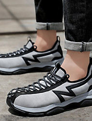 cheap -Men's Trainers Athletic Shoes Casual Daily Office & Career Safety Shoes Elastic Fabric Breathable Non-slipping Wear Proof Dark Grey Black Light Grey Summer