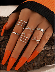 cheap -Ring Crossover Silver Alloy Stylish Simple European 1 set One Size / Women's