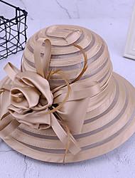 cheap -Women's Bucket Hat Mesh Party - Floral All Seasons White Black Purple