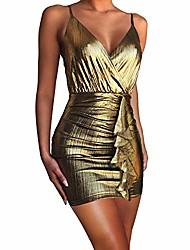 cheap -cosics gold lame dress, sleeveless v neck bronze sparkly glitter bodycon homecoming dresses short, bachelorette party dress (size 12-14)