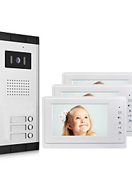 cheap -Apartment Video Door Phone Intercom Doorbell Camera 7 Inch LCD Display Monitor for One to Three Family Camera 700TVLine CMOS 3.6mm Lens Hands-free