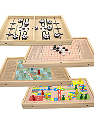 cheap -Fast Sling Puck Game 4 in 1 Table Desktop Battle Games 14x9 Inch Paced Winner Board Games Toys for Kids and Adults Hockey Table Game Parent-Child Interactive Board Toys