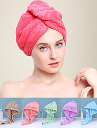 cheap -LITB Basic Bathroom Soft Coral Fleece Hair Wraps Quick-drying Towel Solid Colored Comfortable Daily Home Bath Towels 1 pcs