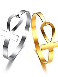 cheap -Women's Bracelet Bangles Classic Cross Fashion Titanium Steel Bracelet Jewelry Gold / Silver For Anniversary Party Evening Birthday