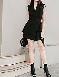 cheap -A-Line Reformation Amante Sexy Homecoming Party Wear Dress V Neck Sleeveless Short / Mini Spandex with Buttons Ruffles 2021