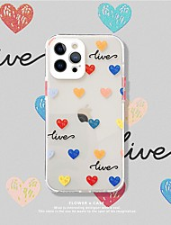 cheap -Heart Patterned Case For Apple iPhone 12 11 SE2020 Shockproof Protective Case TPU Cover for iPhone 12 Pro Max XR XS Max iPhone 8 7