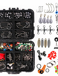 cheap -205 pcs Fishing Hooks Fishing Snaps & Swivels Fishing Beads Fishing Line Sinker Slides Plastic Metal Easy to Carry Easy to Use Sea Fishing Other