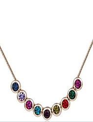 cheap -Women's Cubic Zirconia Choker Necklace Classic Flower Cute Alloy Gold 45+5 cm Necklace Jewelry 1pc For Anniversary Street Birthday Party Festival