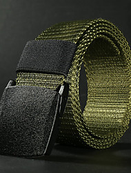 cheap -Men's Military Tactical Belt Breathable Wearable Protective for Solid Colored Canvas Fall Spring Summer