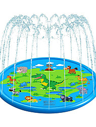 cheap -Sprinkle Splash Play Mat Inflatable Splash Pad Sprinkler PVC / Vinyl Dinosaur Water fun Outdoor Summer 68 Inch Boys and Girls Kid's