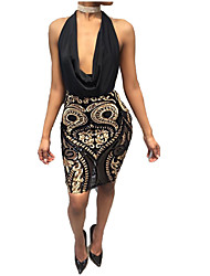 cheap -2017 aliexpress amazon wishebay hot sale halter neck sexy backless sequin dress