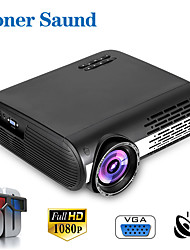 cheap -Poner Saund M2 Mini Projector LED Projector 450 lm Android6.0 WIFI Projector